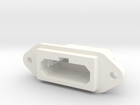 SNES Style Panel Mount Multiout Socket in White Processed Versatile Plastic
