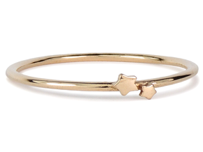 Twin Star Ring (Multiple Sizes) in Polished Bronze: 6 / 51.5