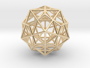 Stellated IcosiDodecahedron in 14K Yellow Gold