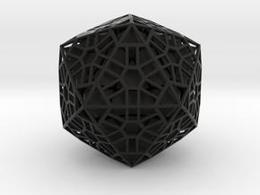 Megaminx Icosahedron Inward in Black Natural Versatile Plastic: Medium