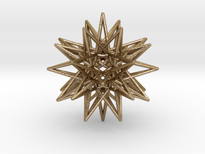 IcosiDodecahedral Star in Polished Gold Steel