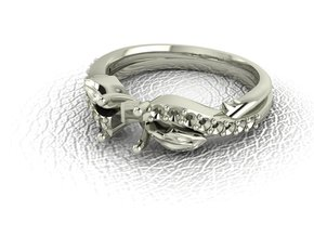 Halo basket 2 NO STONES SUPPLIED in 14k White Gold