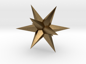 Star - Stellated Dodecahedron in Natural Bronze: Small