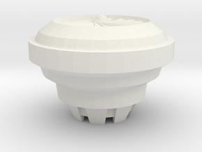 VTOL Fan Type 2 Thin  in White Strong & Flexible