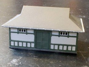 Fruens Bøge Freight house and staff house N scale in Smooth Fine Detail Plastic