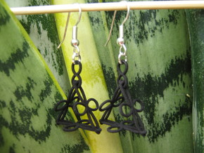 Conchoid Earrings in Black Natural Versatile Plastic