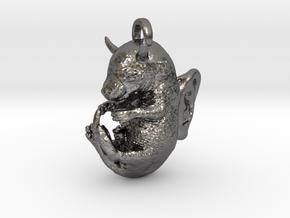 Evil Rat Fetus aka LABORAT in Polished Nickel Steel