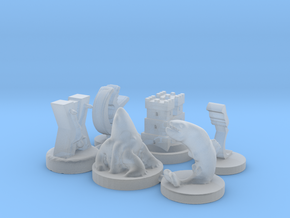 GoT House Marker Pack in Smooth Fine Detail Plastic