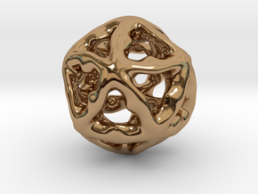 Math Art - Alien Ball Pendant in Polished Brass