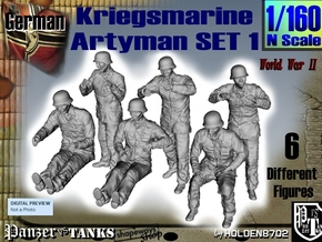1-160 Kriegsmarine Artyman Set1 in Smoothest Fine Detail Plastic