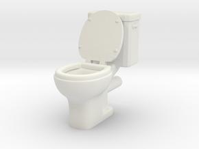 Toilet 01. 1:24 Scale in White Natural Versatile Plastic