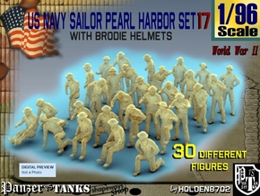 1-96 US Navy Pearl Harbor Set 17 in Smooth Fine Detail Plastic