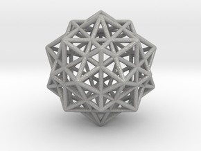 Icosahedron with Star Faced Dodecahedron in Aluminum