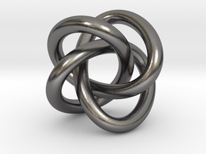 Math Art - (4,3) Torus Knot  Pendant in Polished Nickel Steel