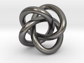 Math Art - (4,3) Torus Knot  Pendant in Polished Nickel Steel
