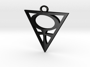 Goddesses: Venus Centered large pendant in Matte Black Steel