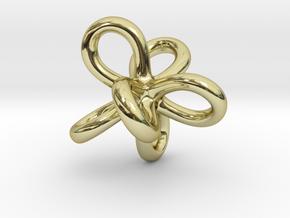 Math Art - Entangled Infinities Pendant in 18k Gold Plated Brass