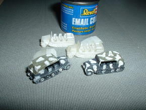 SdKfz. 8 12to Prime Mover 1/285 6mm in Smooth Fine Detail Plastic