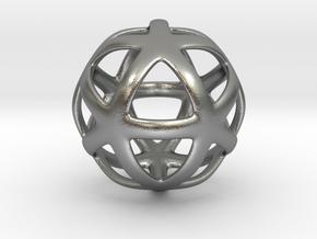Math Art - Star Ball Pendant in Natural Silver