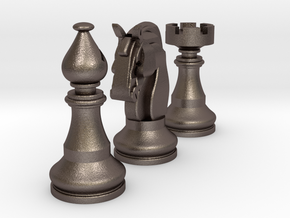 Knight, Rook & Bishop in Stainless Steel