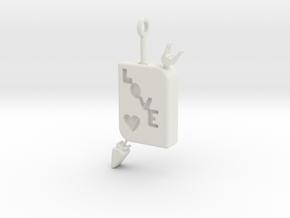 LOVE Pendant in White Natural Versatile Plastic
