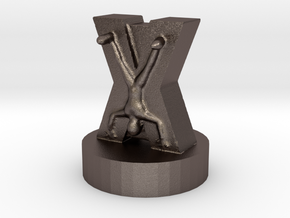 Game of Thrones Risk Piece Single - Bolton in Polished Bronzed Silver Steel