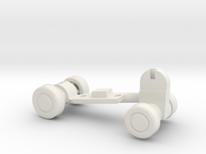 Chainsaw Car, Part B (Undercarriage) in White Natural Versatile Plastic