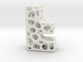 Voronoi Letter ( alphabet ) F in White Strong & Flexible