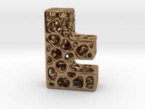 Voronoi Letter ( alphabet ) F in Natural Brass