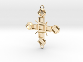 Pendant Luctor in 14k Gold Plated Brass