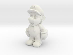 Nintendo Mario  in White Natural Versatile Plastic: Extra Small