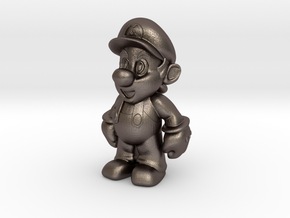 Nintendo Mario  in Polished Bronzed Silver Steel: Extra Small