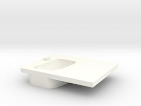 Door handle old model right front D90 2/2 in White Processed Versatile Plastic