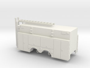 1/64 Rosenbauer Pumper Tanker Body Compartment Doo in White Natural Versatile Plastic