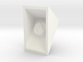 Fuel filler cap square old model D90 in White Processed Versatile Plastic