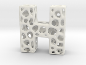 Voronoi Letter ( alphabet ) H in White Strong & Flexible