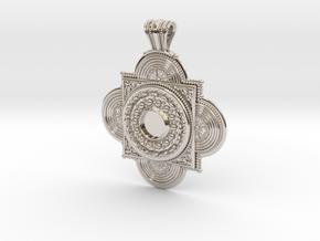 Pendant Solaris in Rhodium Plated Brass