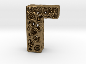 Voronoi Letter ( alphabet ) L in Natural Bronze