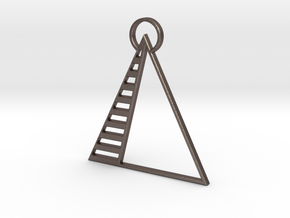 Pyramid Pendant in Stainless Steel