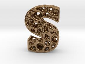 Voronoi Letter ( alphabet ) S in Natural Brass