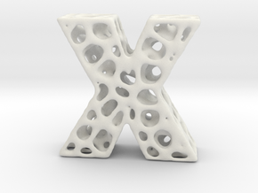 Voronoi Letter ( alphabet ) X in White Strong & Flexible