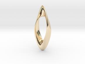 Obius pendant in 14K Yellow Gold