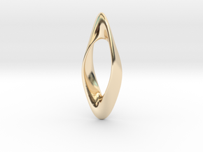 Obius pendant in 14k Gold Plated Brass
