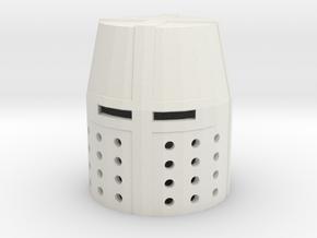 Fingertip Crusader Great Helm in White Natural Versatile Plastic