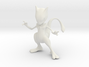 Mewtwo in White Natural Versatile Plastic