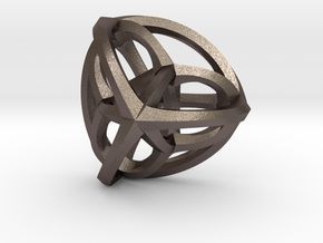 Orthoplex Pendant in Polished Bronzed Silver Steel