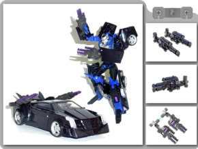 Vehicon Arm Blaster in White Natural Versatile Plastic