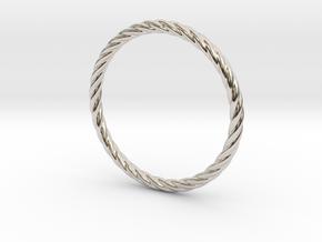 Twist Bracelet 68 in Rhodium Plated Brass