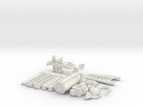 1/8 Allison W Manifold Exhaust in White Natural Versatile Plastic