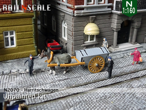Pferd mit Harritschwagen (N 1:160) in Smooth Fine Detail Plastic